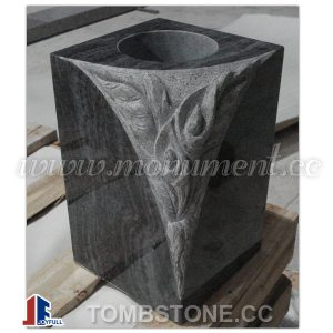 Granite vase for gravestones