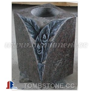 Granite vase for tombstones