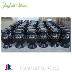 MA-304 Black granite headstone vases