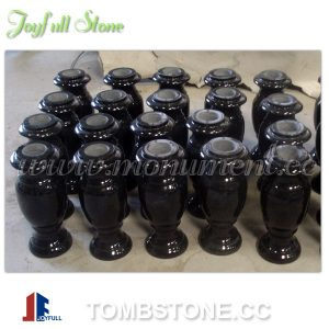 polished granite vase