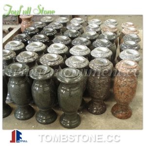 Granite flower vase for tombstones