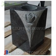 Granite vases for cemetery