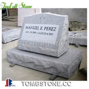 Granite slant marker with base