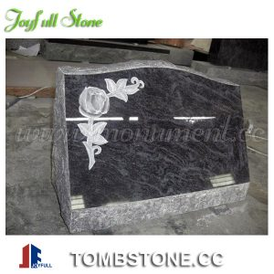 Slanted Headstones with rose carving