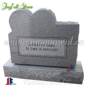 USA Style grey granite monuments with heart
