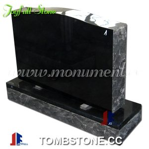 Black granite serpentine top monuments