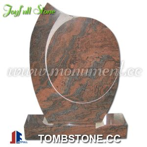 Red granite gravestone